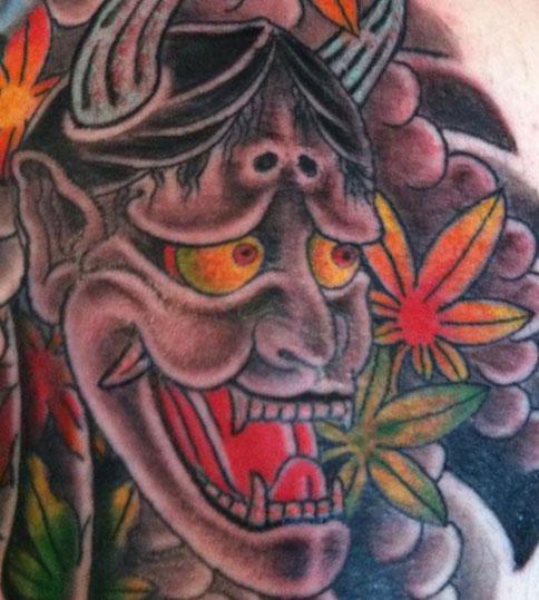 Japanese-horned-tattoo
